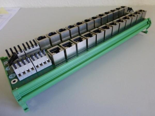 Equinox Device Server, Patch Paneel für Hutschienenmontage, Seriell auf Ethernet Device Server