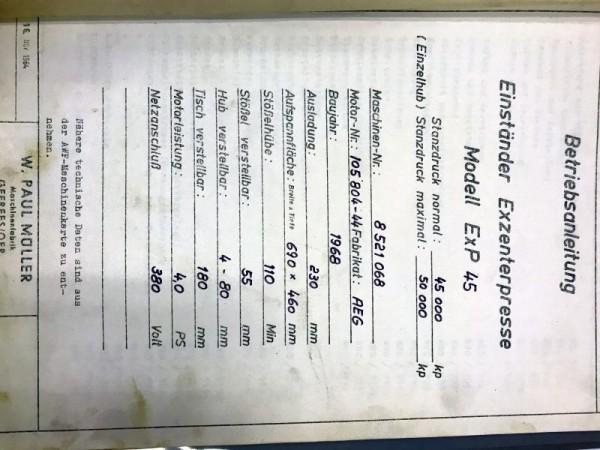 Bedienungsanleitung Müller Gefrees Exp 45