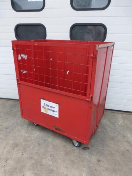 Transportwagen, Kastenwagen, Rollwagen Rollbehälter, Stahlrollbehälter, Rollcontainer
