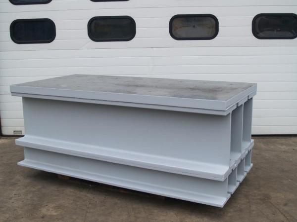 Aufspannplatte, Aufspannwürfel, Aufspanntisch Aufspannklotz aus Stahl mit bearbeiteter Tischplatte