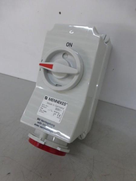 32 Amp. CEE-Wandsteckdose mit Schalter