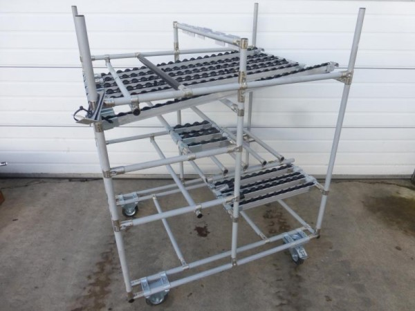 Rohrstecksystem CREFORM Technik, Systemprofil, Aluminium Gestell, Wagen aus Aluminiumprofil, Rohrste