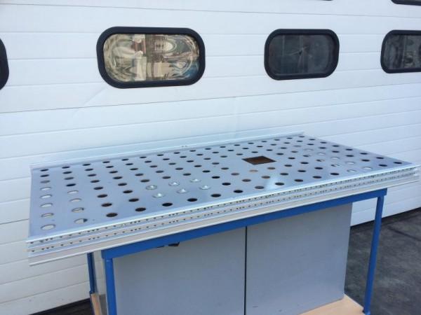 Arbeitstisch, Packtisch, Montagetisch Kugelrollentisch für Rollenbahnbreite 800 mm