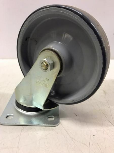 Bockrolle, Stahlblech-Lenkrolle ohne Feststeller, lenkbare Schwerlastrolle für Transportroller