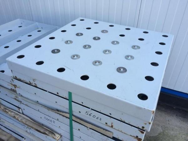 Kugelrollentisch für Rollenbahnbreite 700 mm, Kugeltisch zum Transport von Stückgütern, mit Kugelrol