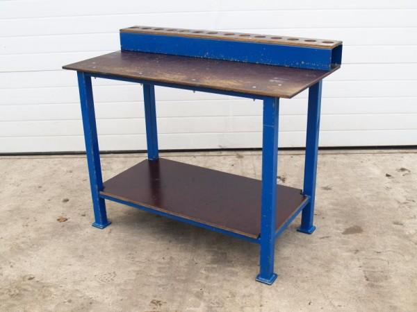 Werkbank Werktisch mit Metallunterbau
