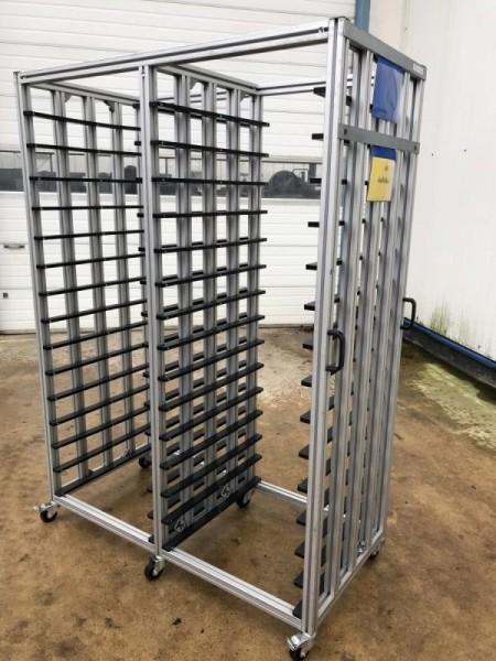 Regal aus Aluminium Systemprofil Aluregal, Einschubregal, Aluminiumgestell