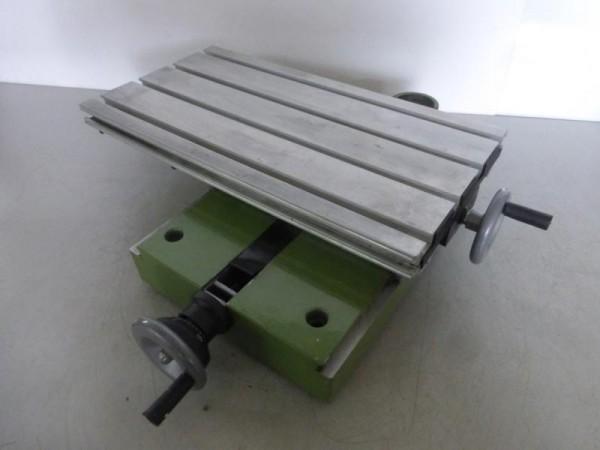 Kreuztisch aus Aluminium mit Handrädern