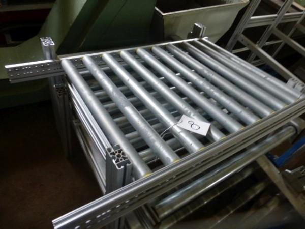 Rollenbahn aus Aluminium- Systemprofil, mit INTERROLL Metallrollen