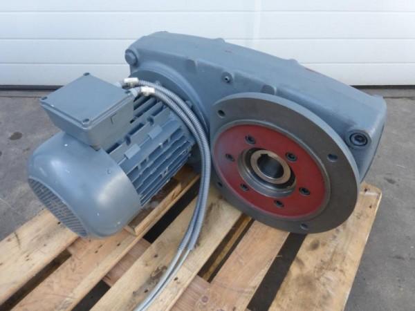 Flachgetriebemotor, Getriebemotor