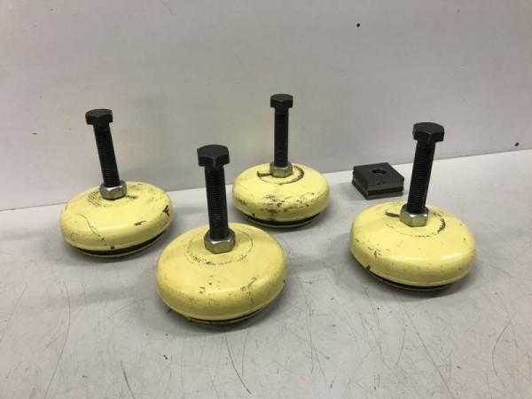 4 Stück Maschinenfüße, Schwingelemente Schwingungsdämpfungs- und Nivellierelement