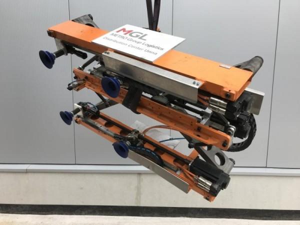 Vakuum-Hebegerät, Vakuumheber Sonderanfertigung als Handlinggerät für einen Industrieroboter