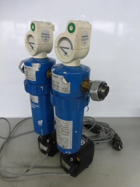 Filterarmatur, Filtereinheit für Kompressoranlagen, Doppelfilter, Stufenfilter