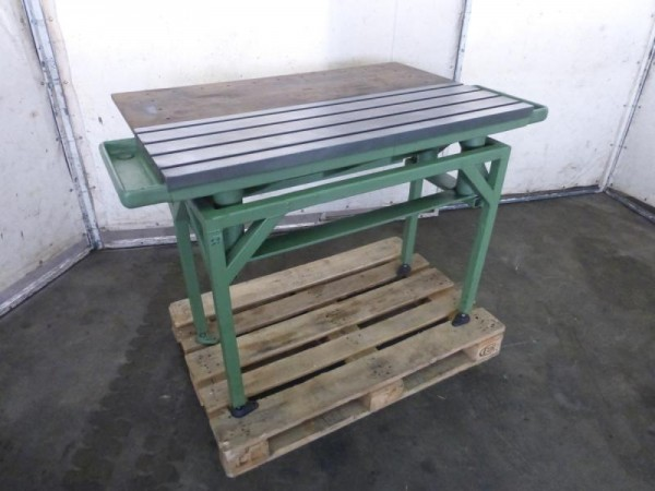 Aufspannplatte, Maschinentisch mit Metallunterbau Aufspanntisch
