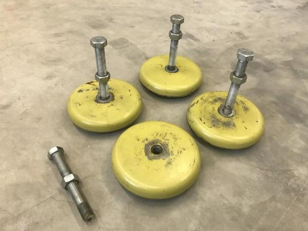 4 Stück Maschinenfüße, Schwingelemente
