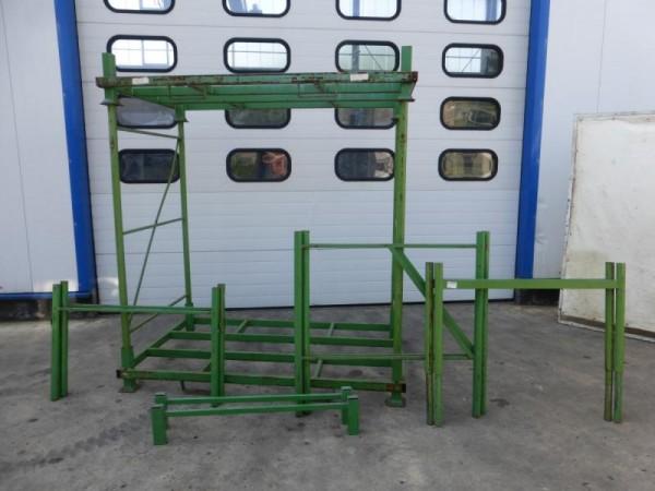 Transportpalette, Lagergestell, Rungengestell Stapelgestell