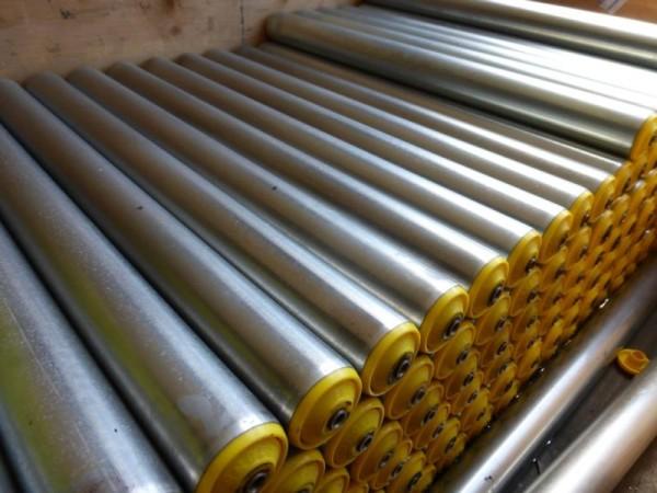 Tragrolle, Normrolle Stahl verzinkt, Transportrolle mit Innengewinde für Rollenbahn oder als Untergu