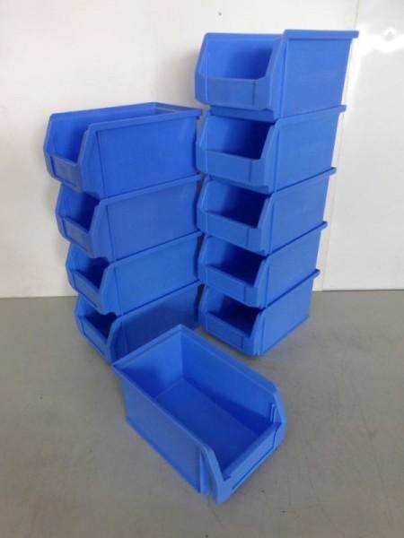 10 Stück Sichtlagerkästen, Lagerkästen, Lagerbehälter
